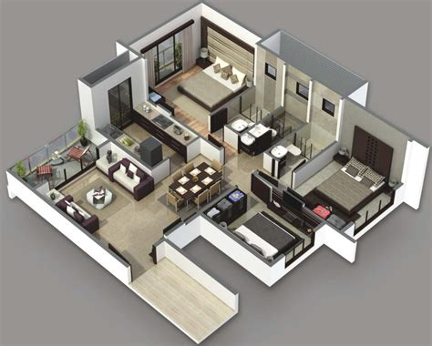 Fascinating 3 Bedroom 2 Bath House Plans — The Wooden Houses
