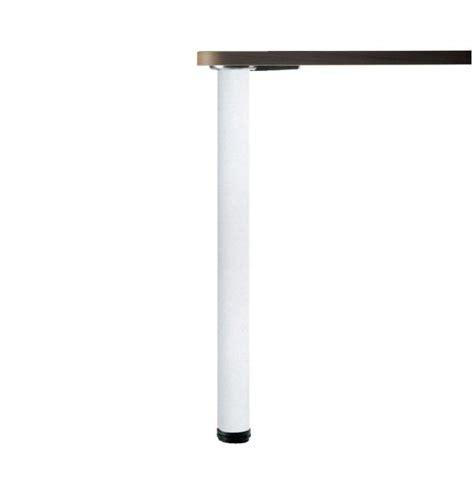pied cuisine luisina pied de table rond en acier laqué blanc h 870 mm