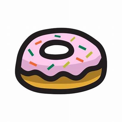 Donut Sweet Icon Dessert Cartoon Snack Icons