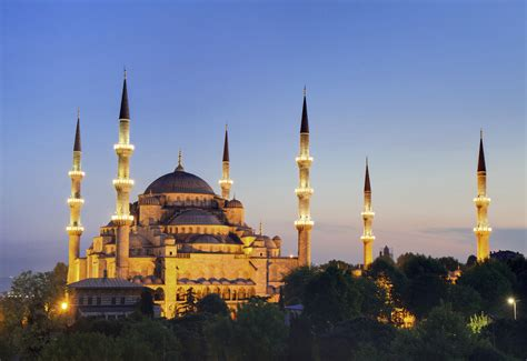 Wallpaper Prophet Mosque by Sultan Ahmed Mosque View In Turkey Country Images