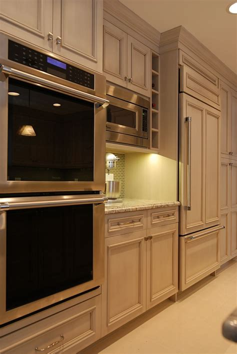 built  refrigerator microwave double oven wall  kitchen wall oven kitchen double oven