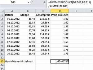 Literpreis Berechnen : durchschnittspreise oder durchschnittskosten mit excel ermitteln ~ Themetempest.com Abrechnung