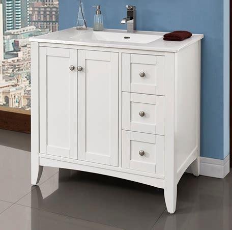 shaker americana  vanity drawer  polar white