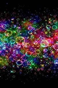 Download Colorful Neon Bubbles Mobile Wallpaper