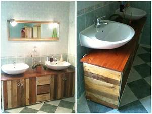 bathroom pallet wine boxes furniture meuble de salle With salle de bain de campagne