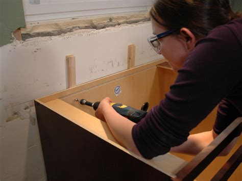 how to hang kitchen cabinets installing kitchen cabinets pictures ideas from hgtv hgtv