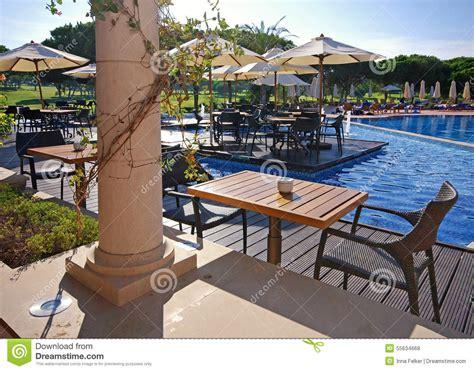 summer outdoor terrace cafe algarve portugal royalty