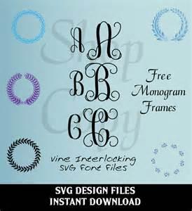 Interlocking Vine Monogram Font SVG