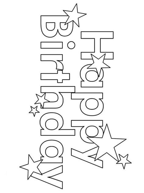 happy birthday coloring pages  printable happy