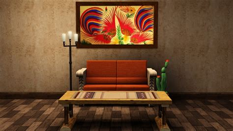 Quality free custom content downloads for your game. Wall Art - Tiki's Sims 3 Corner