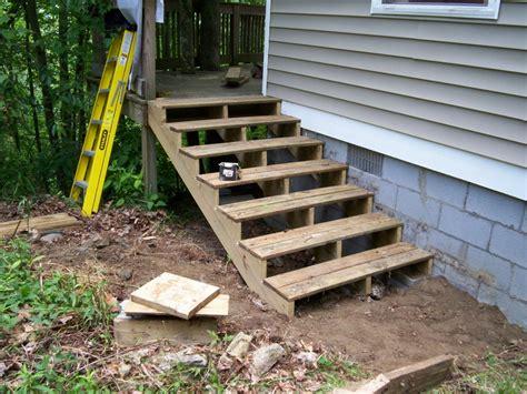 premade porch steps pre made wood deck steps home decor takcop
