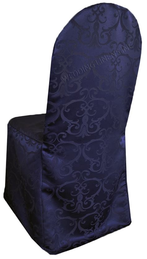 navy blue damask jacquard banquet chair covers wedding
