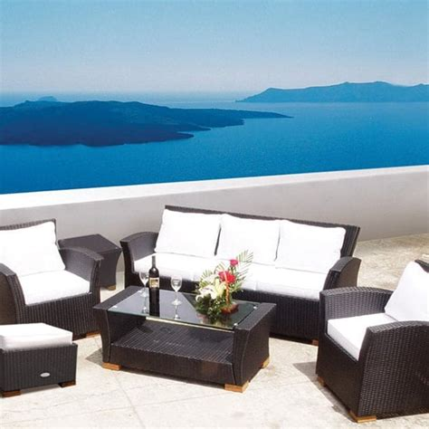 charleston wicker black by royal teak collection patio