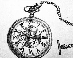 Pocket Watch Pen Drawing by WayOutOfProportion.deviantart ...