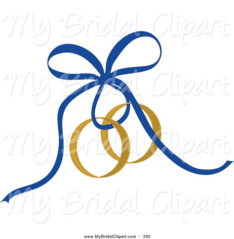 wedding rings clipart bridal clipart of a blue ribbon tying gold wedding rings by pams clipart 335