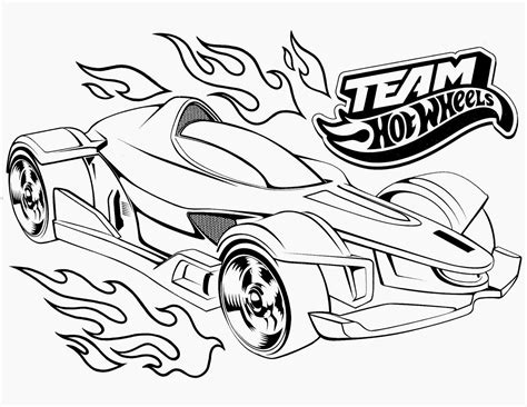 Hot Wheels Cars Coloring Pages Erieairfair