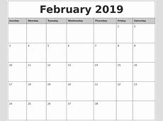 Best Of Calendar 2019 Monthly Printable Get Free