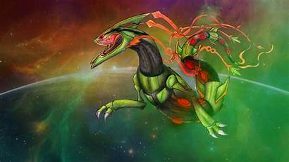 Pokemon Rayquaza Mega Fanart Space Wallpapers Roar