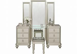 Sofia Vergara Paris Silver 2 Pc Vanity Set - Accent Pieces