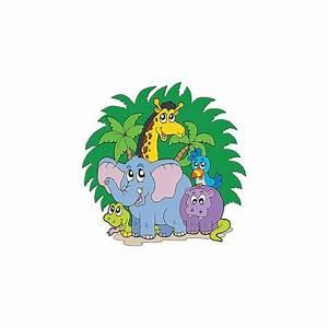 Stickers Animaux De La Jungle : stickers enfant animaux de la jungle r f 3690 stickers muraux enfant ~ Mglfilm.com Idées de Décoration