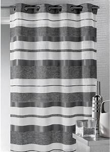 Kit Rayure Vitrage : voilage en etamine avec rayures bayad res horizontales ~ Premium-room.com Idées de Décoration