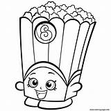 Popcorn Coloring Clipart Pages Printable Getdrawings sketch template