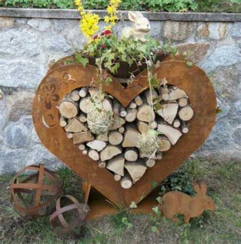 Gartendeko Rost Und Holz by 92 Besten Gartendeko Rost Bilder Auf
