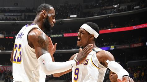 Rajon Rondo returns to Los Angeles Lakers practice after ...