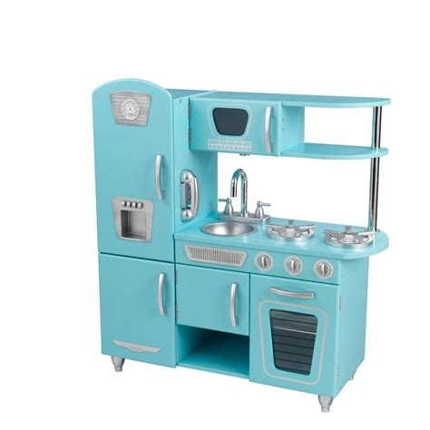 cuisine kidkraft vintage kidkraft blue vintage kitchen play set 53227 the home depot