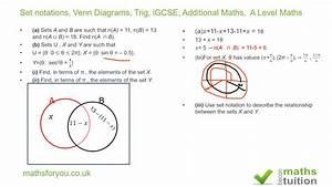 Set Notations  Venn Diagrams  Trig  Igcse  Additional