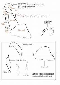 wedding shoe template 362x512 35kb ciekawe projekty With how to make paper shoes templates