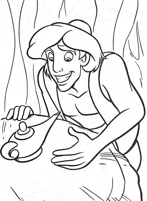 dessins de coloriage aladdin  la lampe merveilleuse