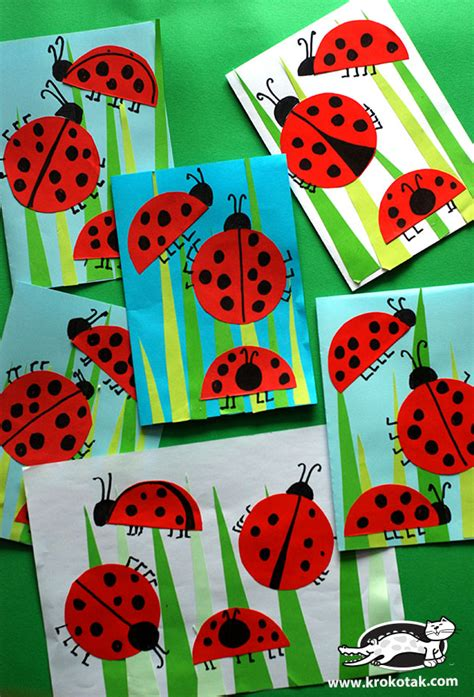 krokotak ladybug crafts for 515 | 52