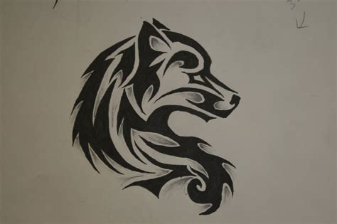 tribal wolf tattoo   broken  deviantart