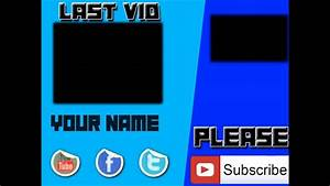 Blue Outro Template