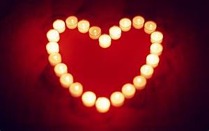Wallpaper Warm and loving heart shaped candle 1920x1200 HD ...