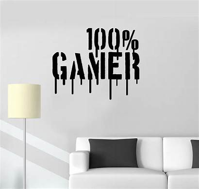 Gamer Wall Vinyl Decal Games Boys Sticker