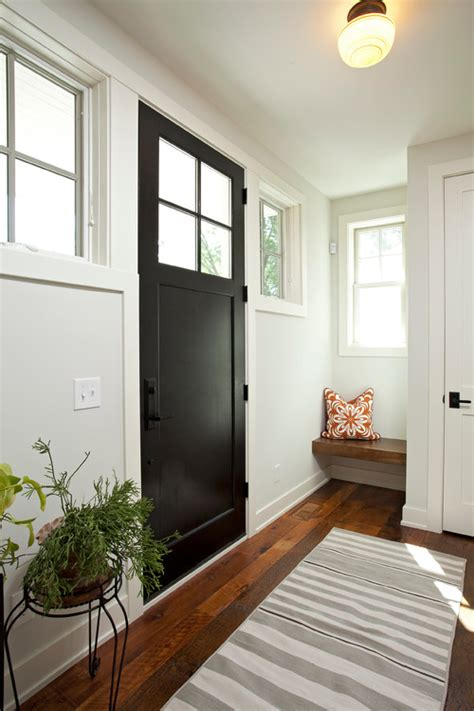farmhouse entry door painted stairs and doors hueology studio