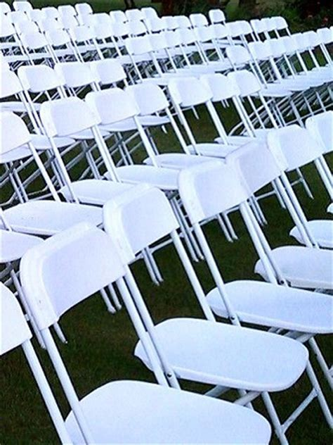 White Folding Chair ? PS Event Rentals