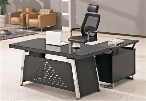 bureau de directeur bureau en verre moderne de directeur de meubles de bureau