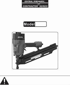 Harbor Freight Tools Nail Gun 98733 User Guide