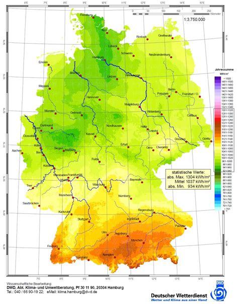 globalstrahlung sonneneinstrahlung  deutschland