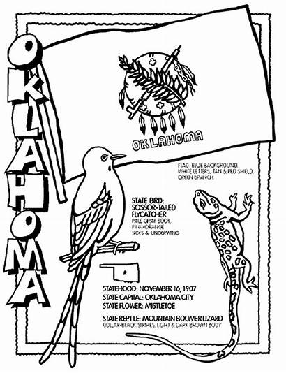 Coloring Pages Crayola Oklahoma State Sheets States