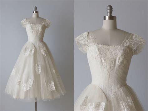 Reserved Tea Length Wedding Dress / 1950s Wedding Dress / 50s
