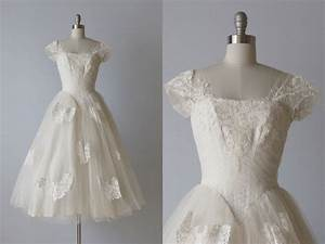reserved tea length wedding dress 1950s wedding dress 50s With 1950s wedding dresses