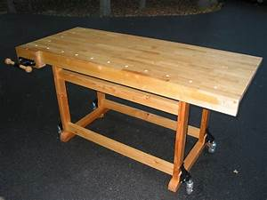 Wood Work Woodworking Bench On Wheels PDF Plans