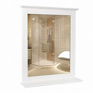 Spiegel Mit Ablage Holz : homfa 50x60cm wandspiegel badspiegel mit ablage h ngespigel spiegel f r badezimmer wohnzimmer ~ Markanthonyermac.com Haus und Dekorationen