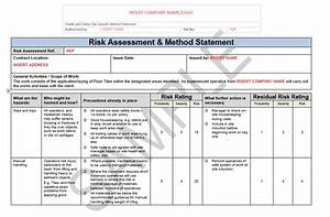 Risk Assessment & Method Statement for Floor Tiling Seguro