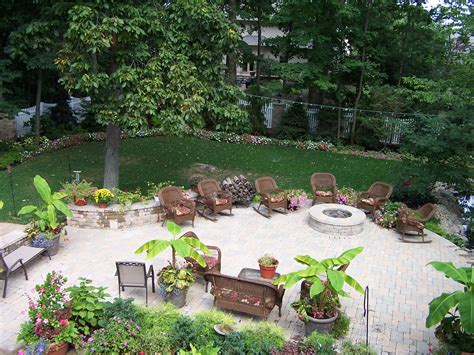 great landscaping design with pit ideas added