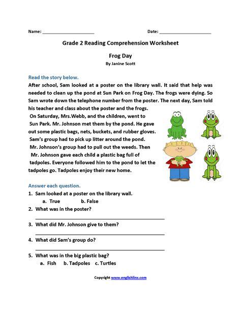 reading comprehension worksheets 2nd grade reading worksheets second grade reading worksheets